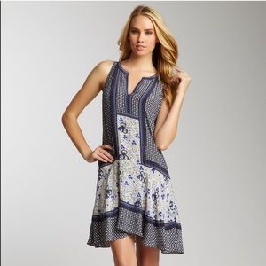 Rebecca Taylor Blue Silk Shift Dress